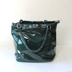 French Connection Large Patent Leather Cube Purse